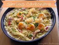 Yummy Shrimp Carbonara Recipe #RecipeOfTheDay