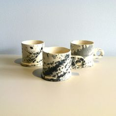 Splatter Paint Mugs, design by Peter Shire, via The Future Perfect.