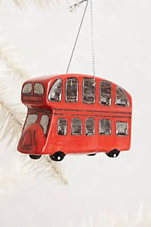 A big red bus for your Christmas tree.