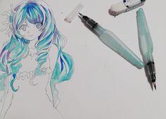 S1150043 blue Anime, Blue, Art, Anime Shows, Kunst, Art Education, Artworks