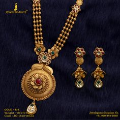 Gold 916 Premium Design Get in touch with us on Gold Bangles Design, Gold Jewellery Design, Handmade Jewellery, Gold Jhumka Earrings, Gold Necklace, Jewelry Necklaces, Gold Mangalsutra Designs, Diamond Mangalsutra, Gold Jewelry Simple