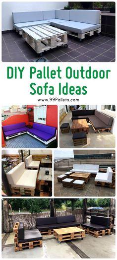 DIY Pallet Outdoor Sofa Ideas | 99 Pallets