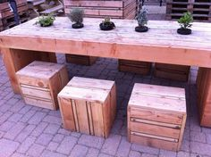 tables chairs made out of pallets at the quay side in kings lynn norfolk pinterest norfolk pallets and railway sleepers - Garden Furniture Kings Lynn