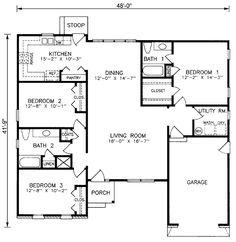 Традиционный План Дома 45209 Один