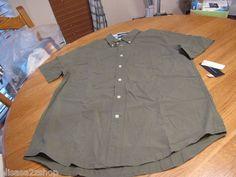 Men's Tommy Hilfiger shirt M button up army olive green city poplin 7810752 376