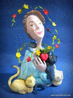 A moça dos gatos - www.marcellaferreira.com