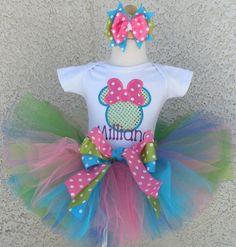 Girls Girls Minnie Mouse Bowtique Inspired Quick Ship Tutu Set