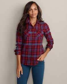 Stine's Favorite Flannel Shirt | Eddie Bauer....and this one :) Obsessed with our flannel :)