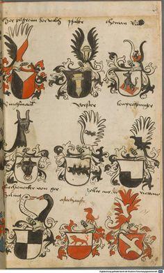 Wappen besonders von deutschen Geschlechtern Süddeutschland ?, 1475 - 1560 Cod.icon. 309  Folio 26r