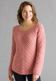 Classic Elite Yarns - Issue 474 - Bias Knit Pullover