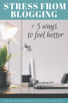 The outcome of a survey that asked bloggers about their experience of feeling stress as a result of their blogging efforts including 5 tips to help bloggers work through these experiences of stress and overwhelm to feel better and be more productive. #stress #blogging #selfcare