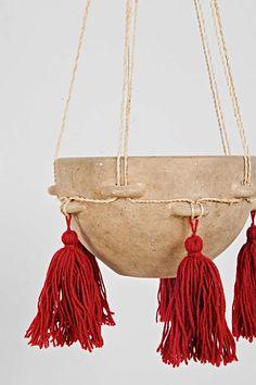 Magical Thinking Hanging Tassel Ceramic Planter