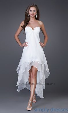 Strapless High Low La Femme Prom Dress - Simply Dresses