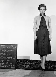 Marilyn Monroe in a costume test for Don't Bother to Knock, 1951.
