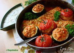 Запеченные фаршированные овощи. Овощи можно нафаршировать любым мясом, например, говяжьим или куриным фаршем. Очень вкусное и сочное блюдо! #edimdoma #cookery #recipe