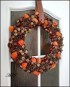 Podzimní věnec Pinterest Fall Decor, Diy Wreath, Holiday Wreaths, Projects To Try, Seasons, Halloween, Creative, Fall Decorations, Home Decor