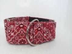 Red Bandana Martingale Dog Collar