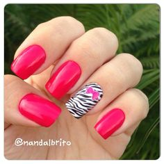 Zebra Nails w/Bow