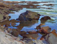 Marcia Burtt  Slack Tide  acrylic 14×18 in.