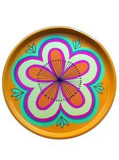 Vintage dienblad felle kleuren Anita Wangel / Vintage tray bright colours Anita Wangel  http://www.funky-friday.com/dienblad-felle-kleuren-anita-wangel.html#