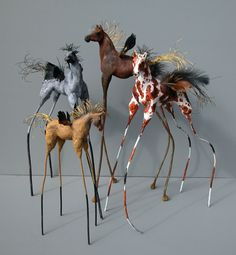 Herds of Horse Flies - Betty Beasley - Love these cute, quirky horses!!