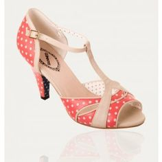 Chaussures Escarpins Pin-Up Rockabilly 50's Norma Pois Polka