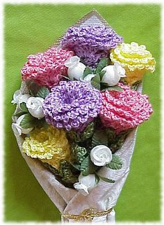 Rose Bouquet, Crocheted Flowers by Crochet Bouquet, via Flickr
