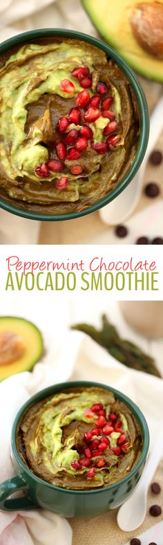 Try this seasonal Peppermint Chocolate Avocado Smoothie recipe for the perfect healthy breakfast to start your day. With raw cacao, peppermint, avocado and greens, a healthy breakfast has never tasted so good!