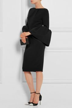 Black stretch-crepe Two-way zip fastening through back  80% polyester, 14% viscose, 6% elastane Dry clean  Made in the UK