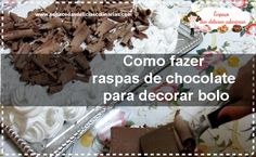 Como fazer raspas de chocolate para decorar bolo