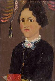 Attributed to William Matthew Prior (American, 1806-1873) Portrait of Ruth Nickerson.
