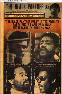 Black Panthers-A large group of African-Americans that used violence to gain black power Black Panther Party, Black Panthers Movement, Bobby Seale, Black Magazine, Civil Rights Leaders, Power To The People, African Diaspora, My Black Is Beautiful, African American History