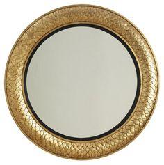 "40"" Round Regency Mirror, Gold - A Designer's Elegant Manhattan Apartment - Week 23 - Sales Events   One Kings Lane"