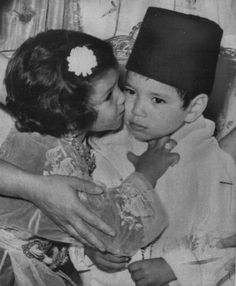 1966, Princess Lalla Meryem and her brother the future King Mohammed VI of Morocco