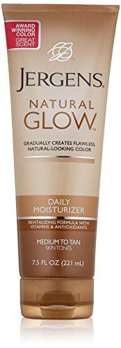 Jergens Glow Daily Moisturizer Med to Tan, 7.5 Ounce, Packaging May Vary Jergens http://www.amazon.com/dp/B001UTK794/ref=cm_sw_r_pi_dp_xDOsvb0NS7GTA