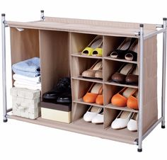Shoe Closet Organizer Storage Maniac Light Cube Box Storage Units Set 10 Durable  StorageManiac 8+2 Compartment Shoe & Boot Organizer IB-1309000002: Our 8+2 Compartment Shoe & Boot Organizer is an updated organization classic with generously sized compartments to accommodate women's large fashion boots, women's shoes, men's shoes, and accessories like handbags and clutches. This freestanding organizer has durable reinforced fabric compartments to store up to 8 pairs of shoes and 2 pairs of…