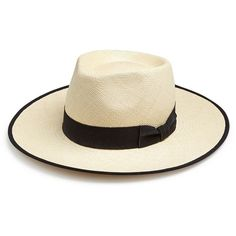 b94214c7e44cd My Bob Outback Two-Tonal Straw Fedora ( 197) ❤ liked on Polyvore featuring