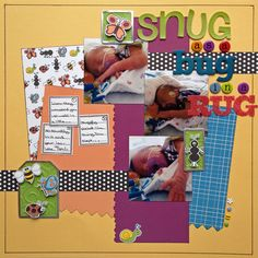Snug as a Bug in a Rug - by Megan Smith  (based on a sketch by Tracy Kosfosky of Feeling Scrappy)