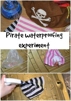 Fun pirate themed waterproofing activity, perfect for Key stage 1 and EYFS,