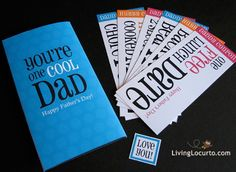 A fun Father's Day Card with Coupons.  Designed by Amy Locurto at LivingLocurto.com. Shop at shop.livinglocurto.com