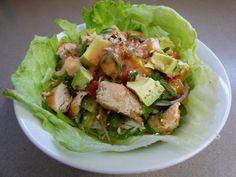 Thai Chicken Salad With Vermicelli Thai Chicken Salad, Nutrition, Ethnic Recipes, Food, Essen, Meals, Yemek, Eten