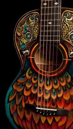 Painted guitar art ****No, it's not a bass but WOW!!!!!