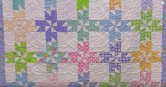 """Just watch as the """"Sweet Stars"""" block transforms before your eyes into this beautiful quilt! Flannel Quilts, Cute Quilts, Lap Quilts, Strip Quilts, Quilt Blocks, Mini Quilts, Missouri Quilt Tutorials, Quilting Tutorials, Quilting Projects"""