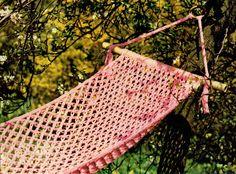 PDF 1970s Boho Summer Lacy Hammock Crochet Pattern, Retro, Hippy, Fairytale, Dreamy, Groovy, Whimsicalx Knitting Club, Hippie Chick, Vintage Knitting, Handicraft, Twine, Hammock, Fairytale, 1970s, Knot