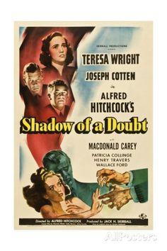 Shadow of a Doubt, 1943, Directed by Alfred Hitchcock reproduction procédé giclée sur AllPosters.fr