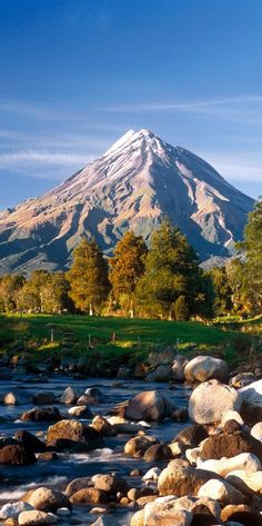 Mount Taranaki in the Taranaki region on the west coast of New Zealand's North Island.