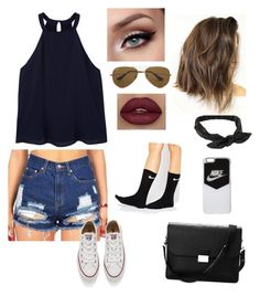 c75d0fb9c415 A fashion look from July 2016 featuring blue tank top