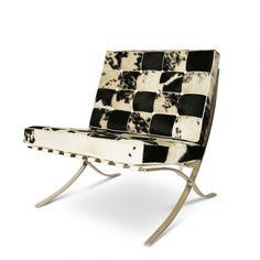 Barcelona Chair cowskin black/white