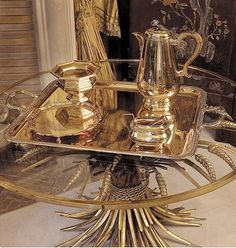 COCO CHANEL' Apt.  Golden wheat table, painted by Salvador Dali