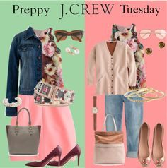 J Crew Preppy Style for Middle Age Women - Middle Skirts